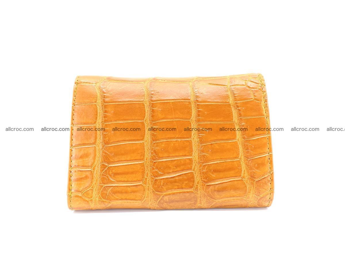 Siamese crocodile skin wallet for women belly part, trifold medium size 442 Foto 1