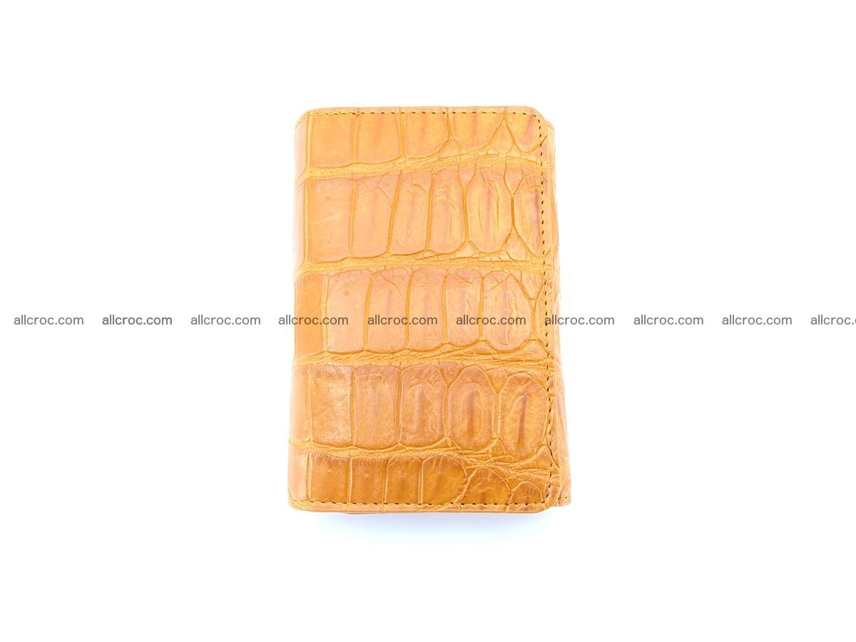 Siamese crocodile skin wallet for women belly part, trifold medium size 442 Foto 2