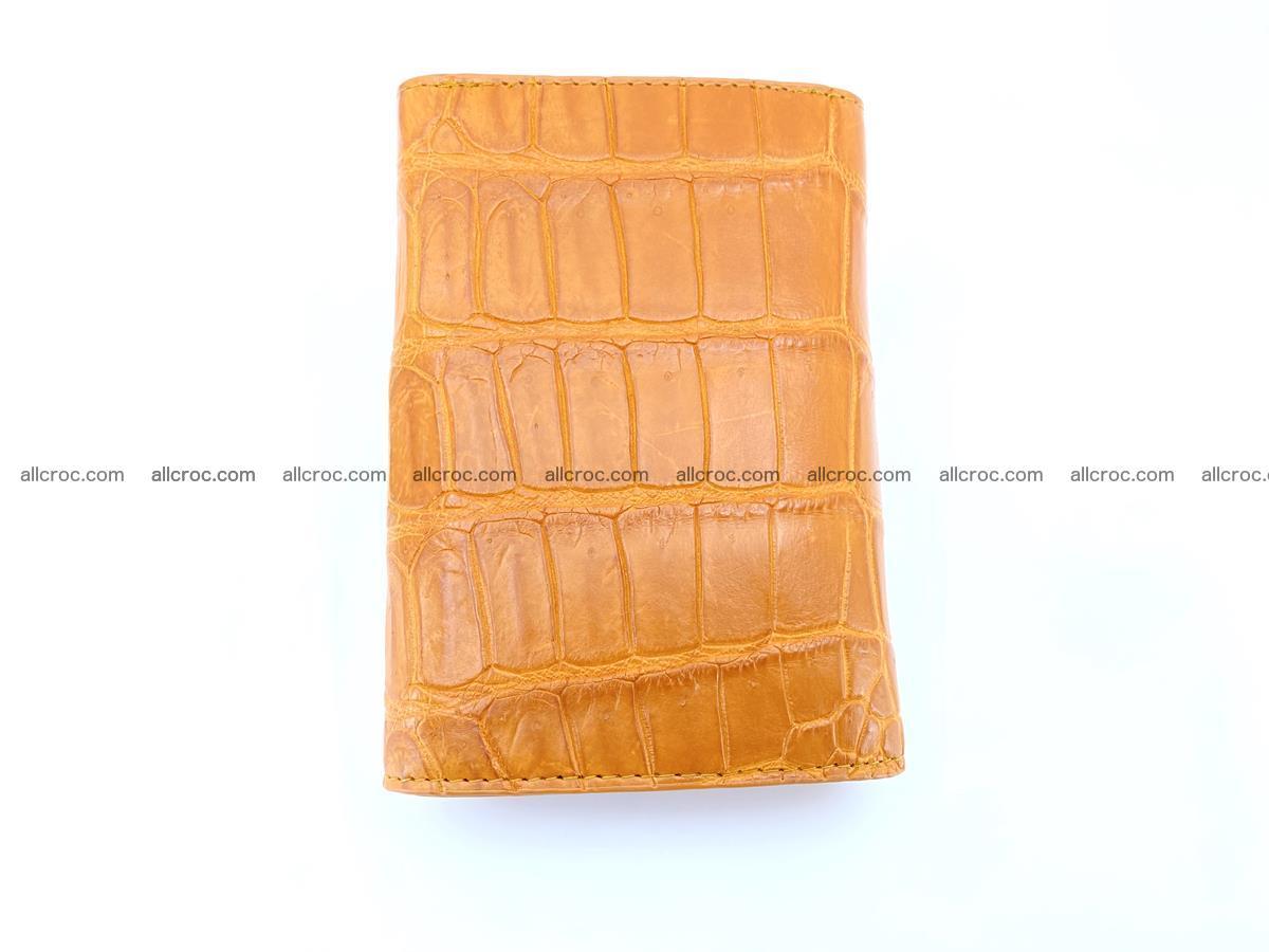 Siamese crocodile skin wallet for women belly part, trifold medium size 442 Foto 3