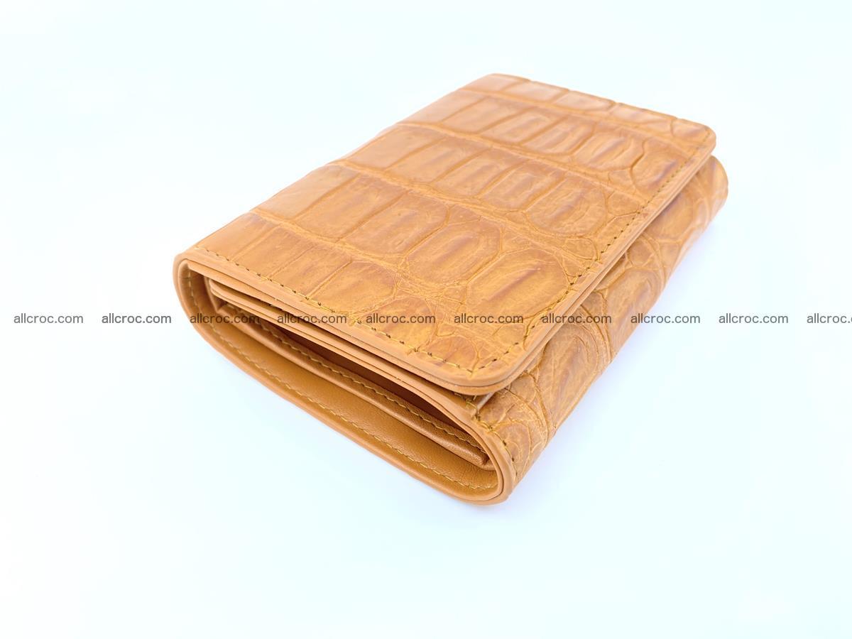 Siamese crocodile skin wallet for women belly part, trifold medium size 442 Foto 4