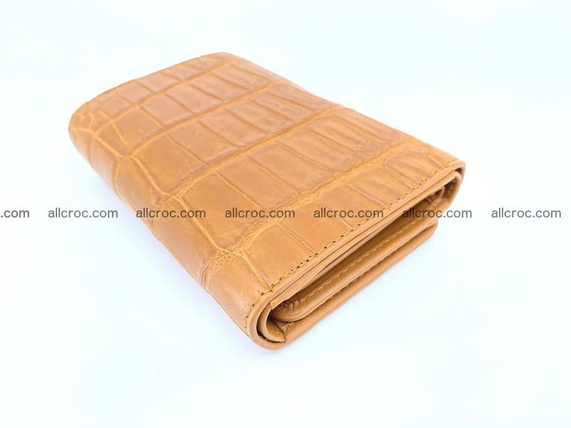 Siamese crocodile skin wallet for women belly part, trifold medium size 442