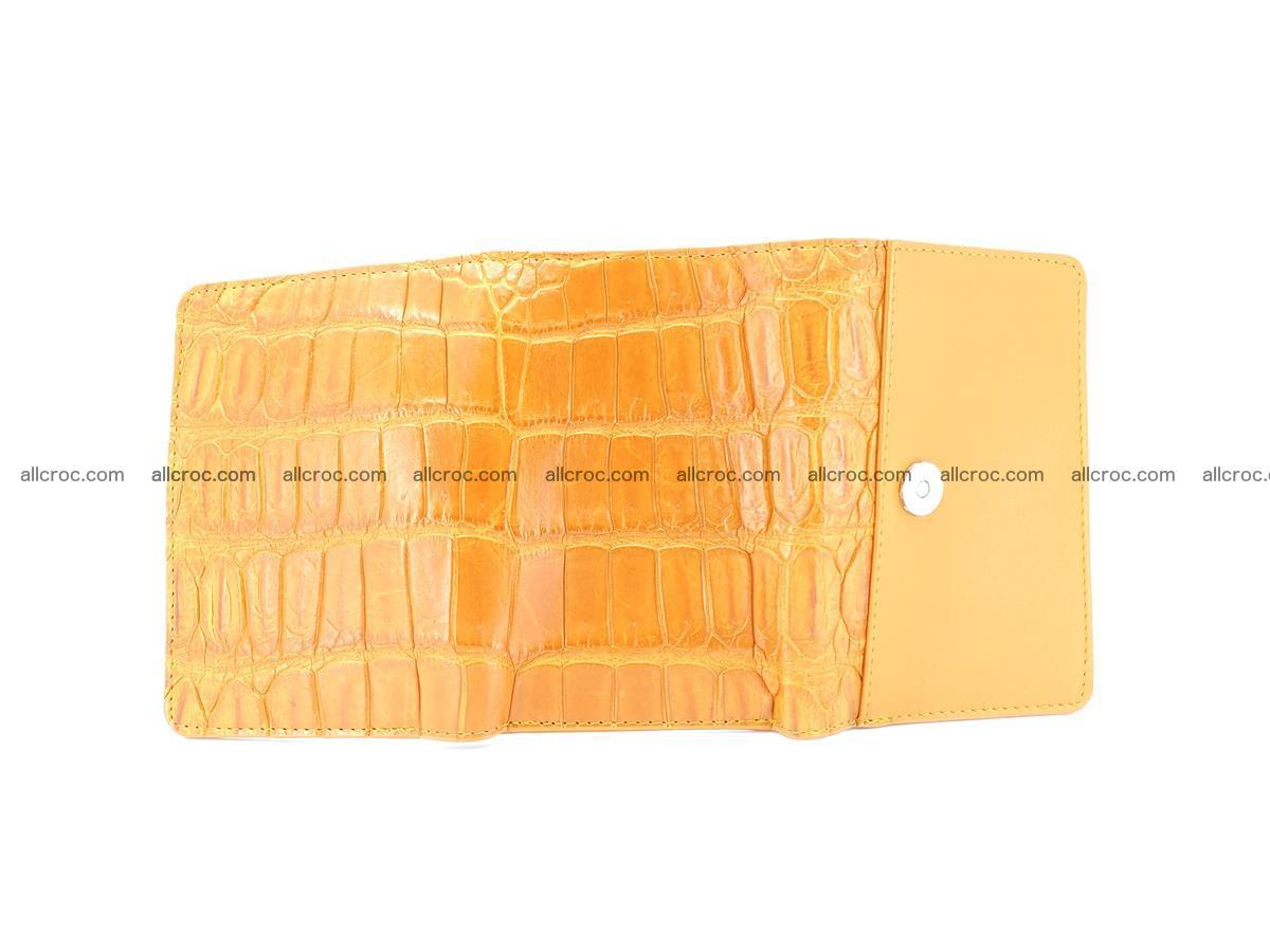 Siamese crocodile skin wallet for women belly part, trifold medium size 442 Foto 8