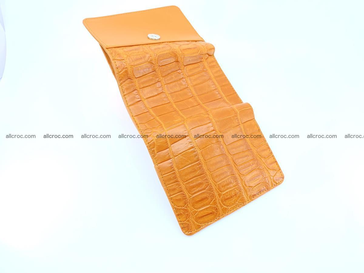 Siamese crocodile skin wallet for women belly part, trifold medium size 442 Foto 6