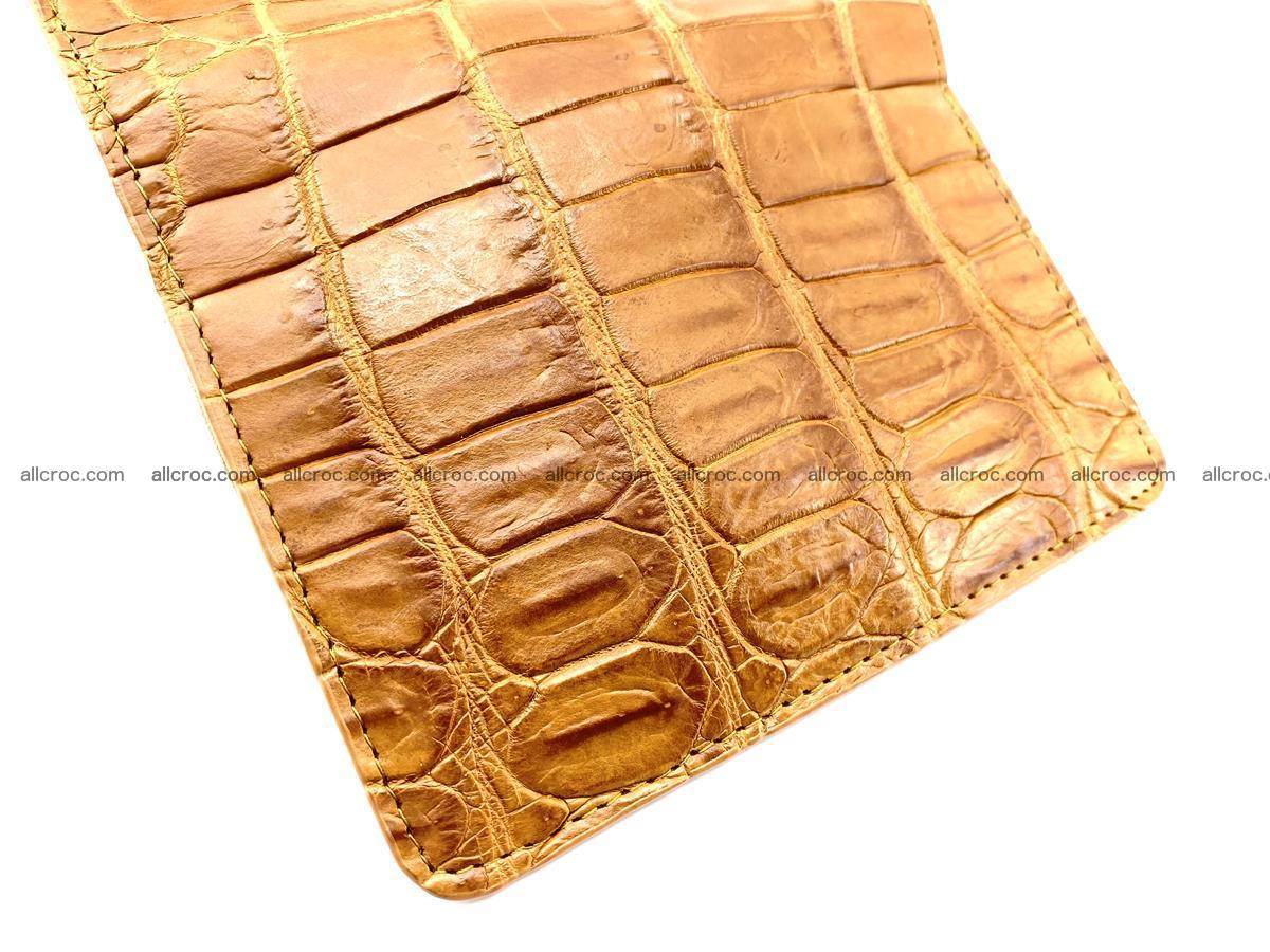 Siamese crocodile skin wallet for women belly part, trifold medium size 442 Foto 7