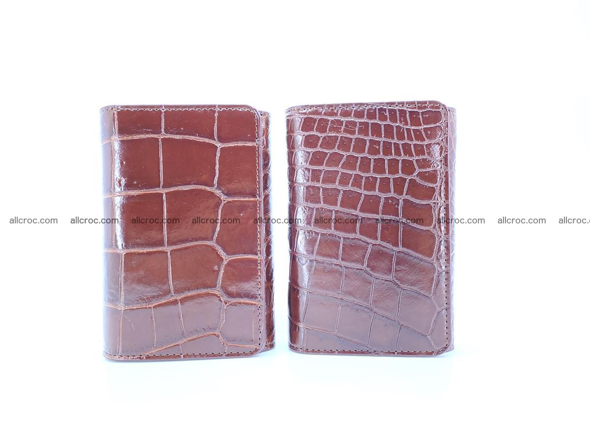 Siamese crocodile skin wallet for women belly part, trifold medium size 443 Foto 12