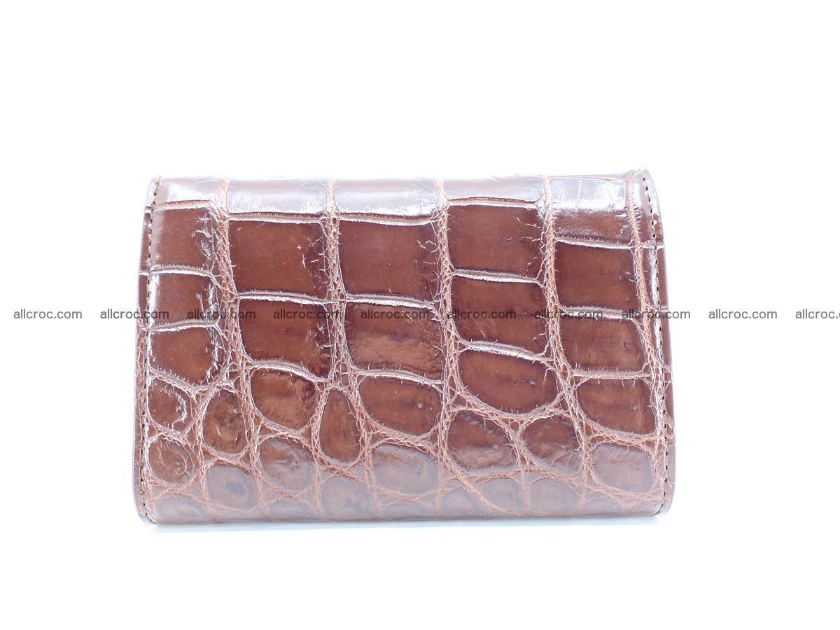Siamese crocodile skin wallet for women belly part, trifold medium size 443 Foto 1