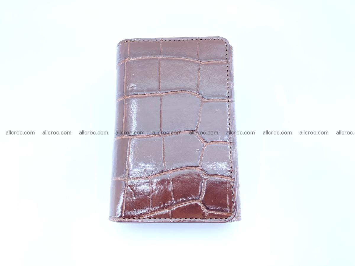 Siamese crocodile skin wallet for women belly part, trifold medium size 443 Foto 2