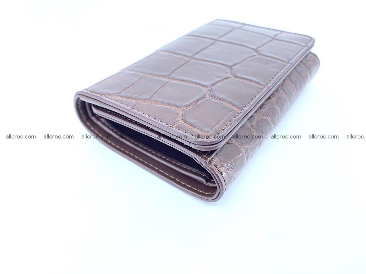 Siamese crocodile skin wallet for women belly part, trifold medium size 443 Foto 4