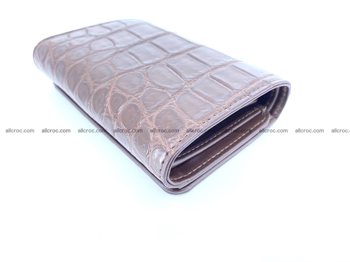 Siamese crocodile skin wallet for women belly part, trifold medium size 443 Foto 5
