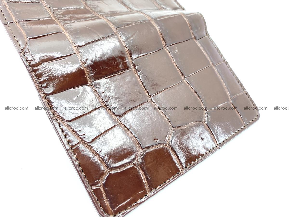 Siamese crocodile skin wallet for women belly part, trifold medium size 443 Foto 9