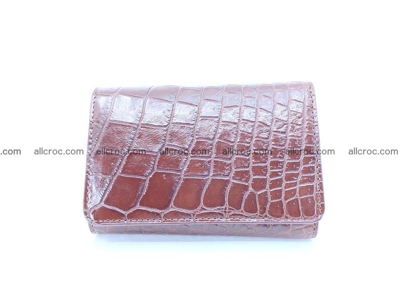 Siamese crocodile skin wallet for women belly part, trifold medium size 446