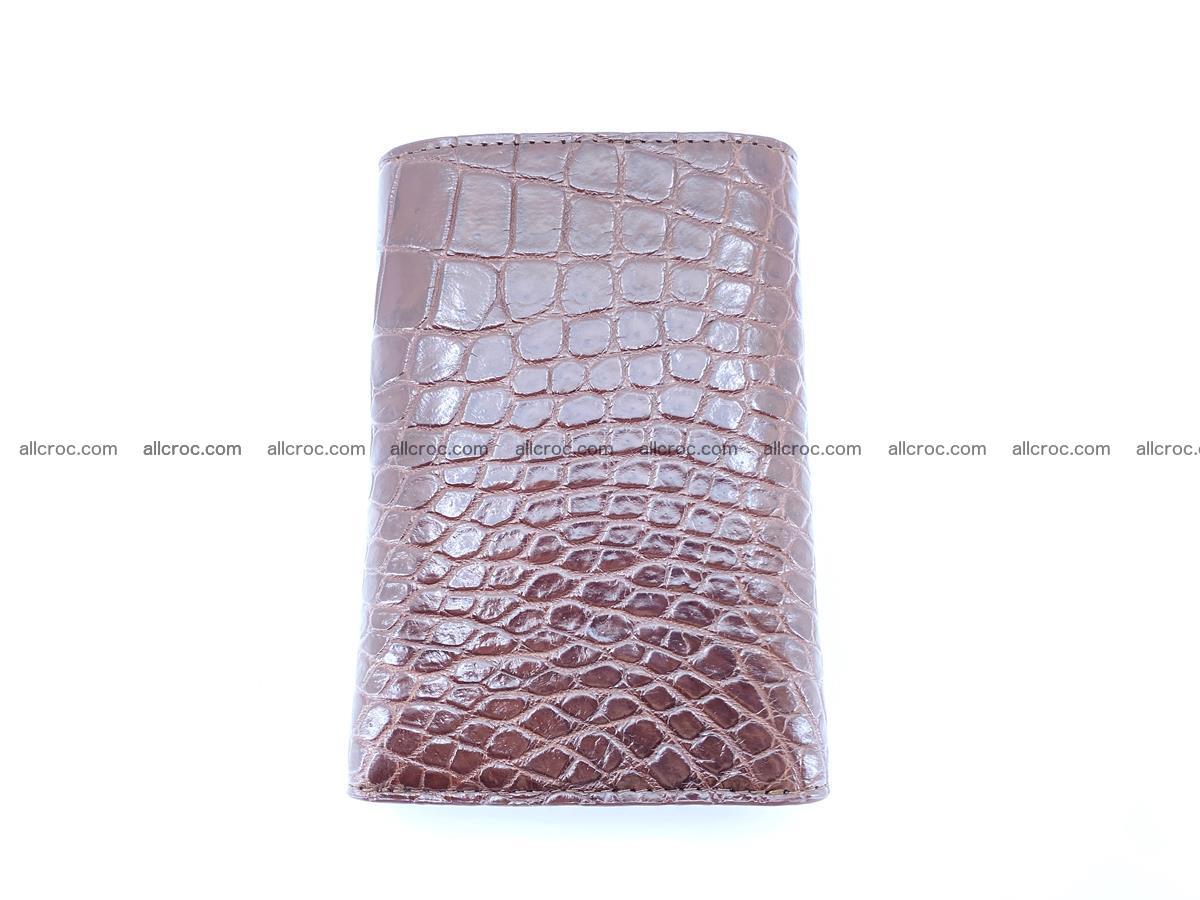 Siamese crocodile skin wallet for women belly part, trifold medium size 446 Foto 3