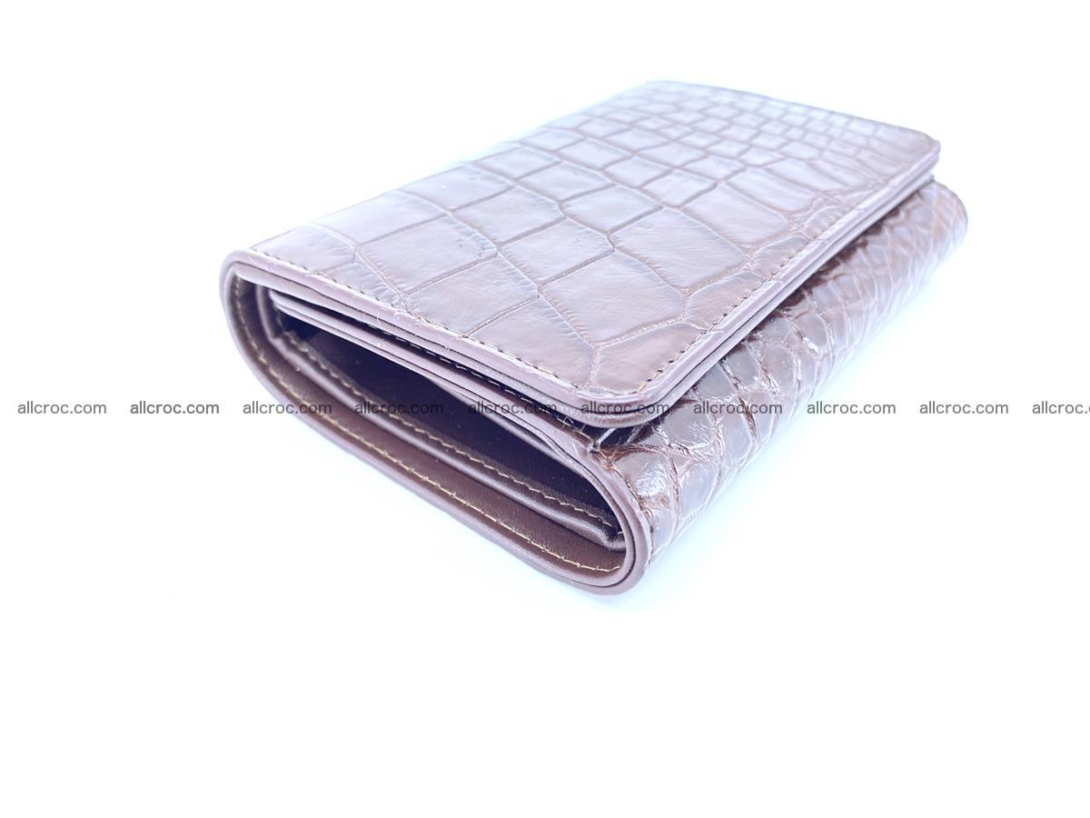 Siamese crocodile skin wallet for women belly part, trifold medium size 446 Foto 4