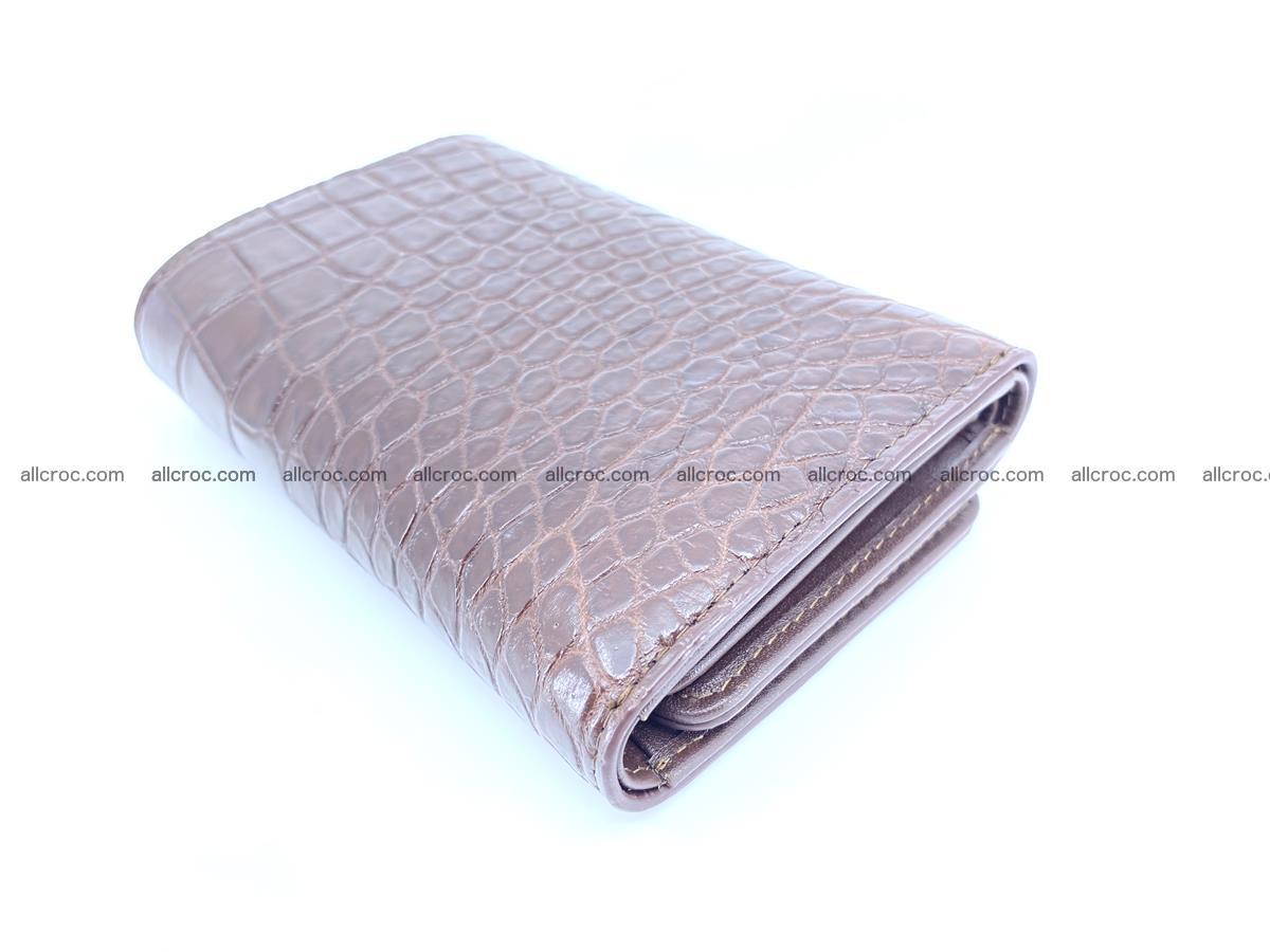 Siamese crocodile skin wallet for women belly part, trifold medium size 446 Foto 5