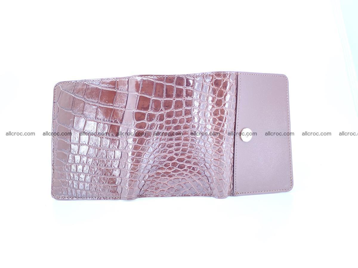 Siamese crocodile skin wallet for women belly part, trifold medium size 446 Foto 8