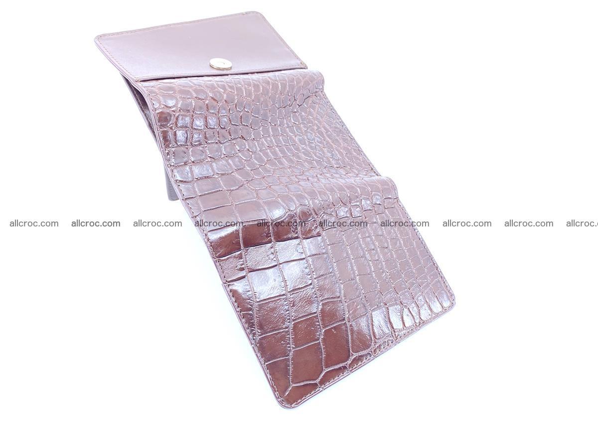 Siamese crocodile skin wallet for women belly part, trifold medium size 446 Foto 6