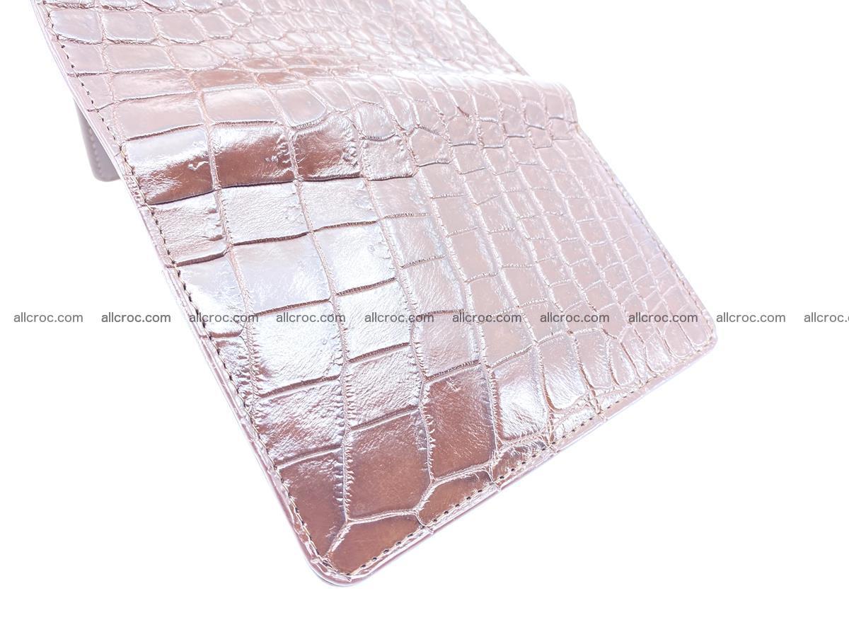 Siamese crocodile skin wallet for women belly part, trifold medium size 446 Foto 7
