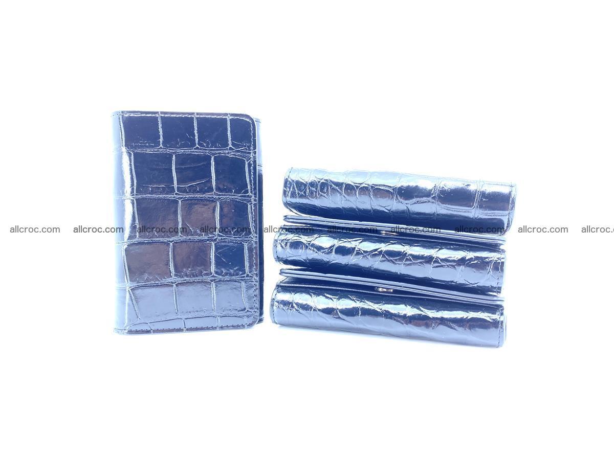 Siamese crocodile skin wallet for women belly part, trifold medium size 447 Foto 11