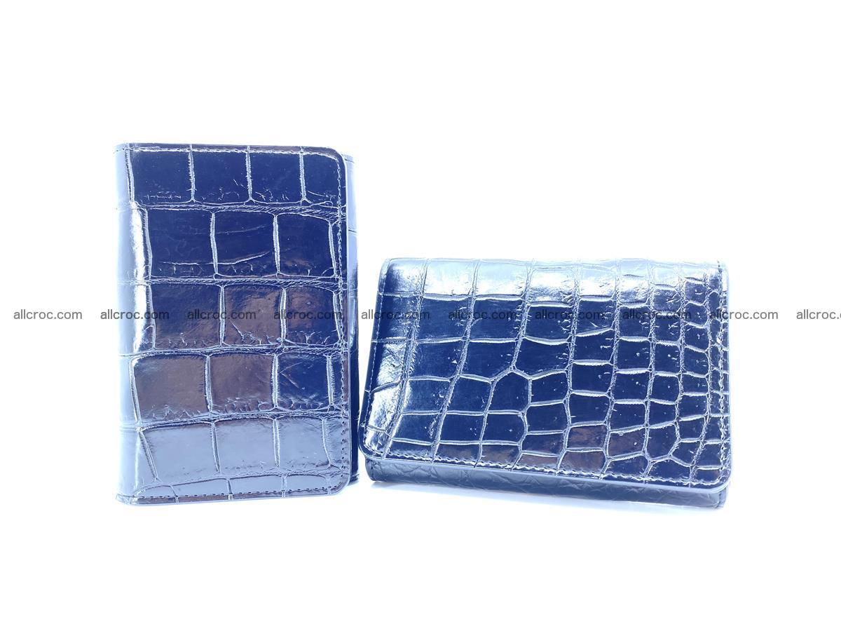 Siamese crocodile skin wallet for women belly part, trifold medium size 447 Foto 12