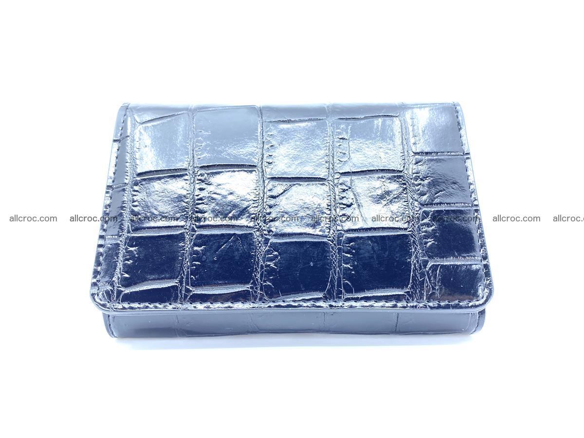 Siamese crocodile skin wallet for women belly part, trifold medium size 445 Foto 0