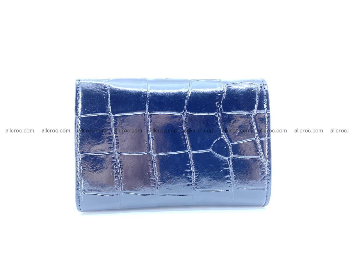 Siamese crocodile skin wallet for women belly part, trifold medium size 445 Foto 1
