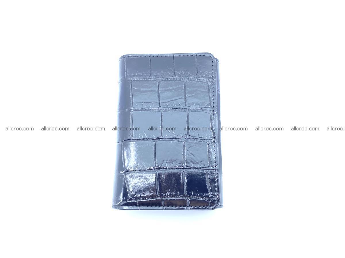 Siamese crocodile skin wallet for women belly part, trifold medium size 445 Foto 2