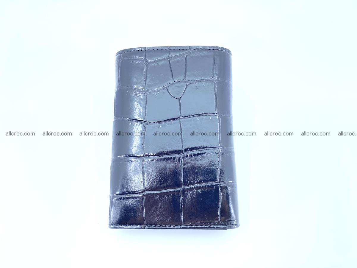 Siamese crocodile skin wallet for women belly part, trifold medium size 445 Foto 3