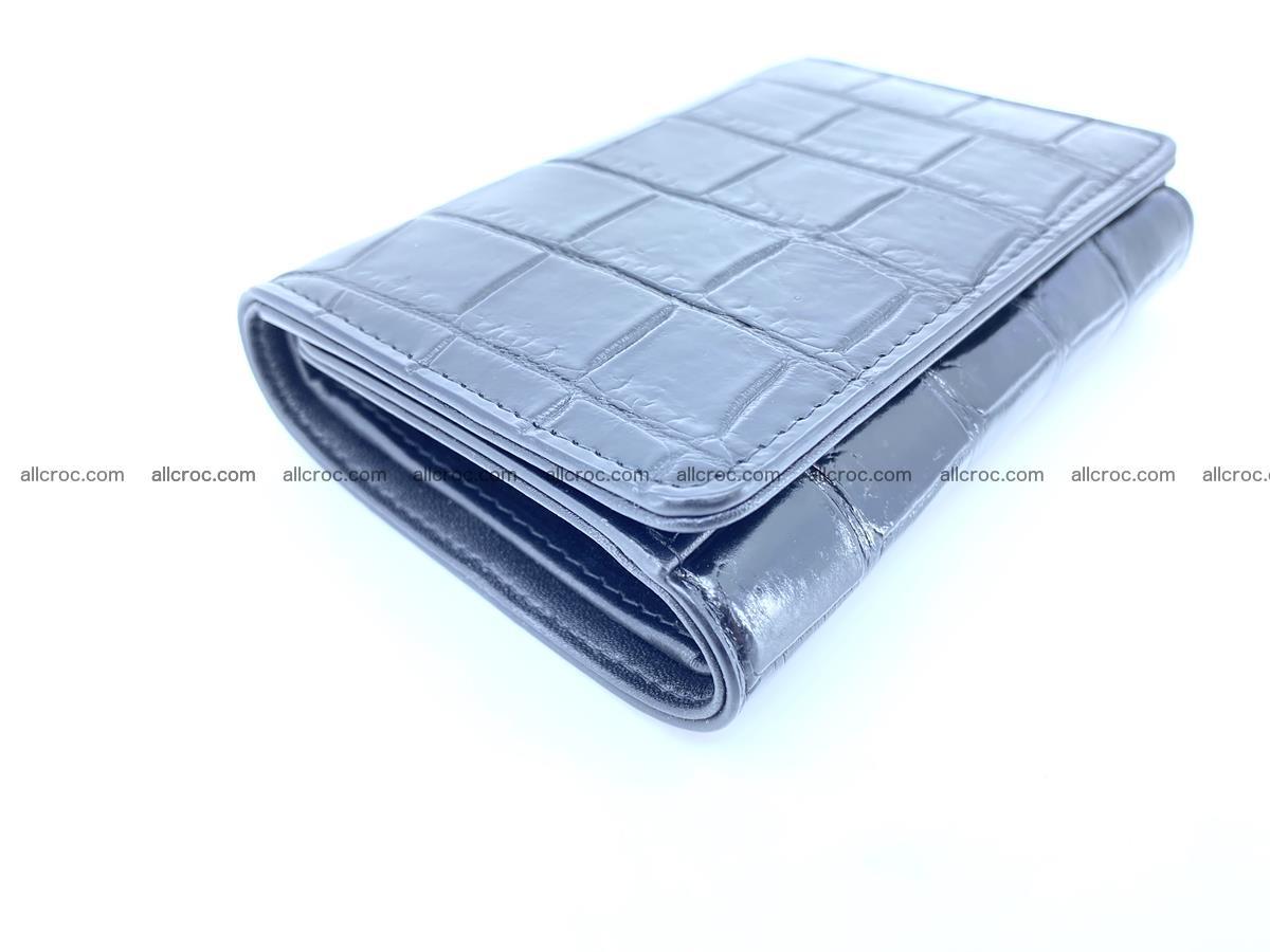 Siamese crocodile skin wallet for women belly part, trifold medium size 445 Foto 4