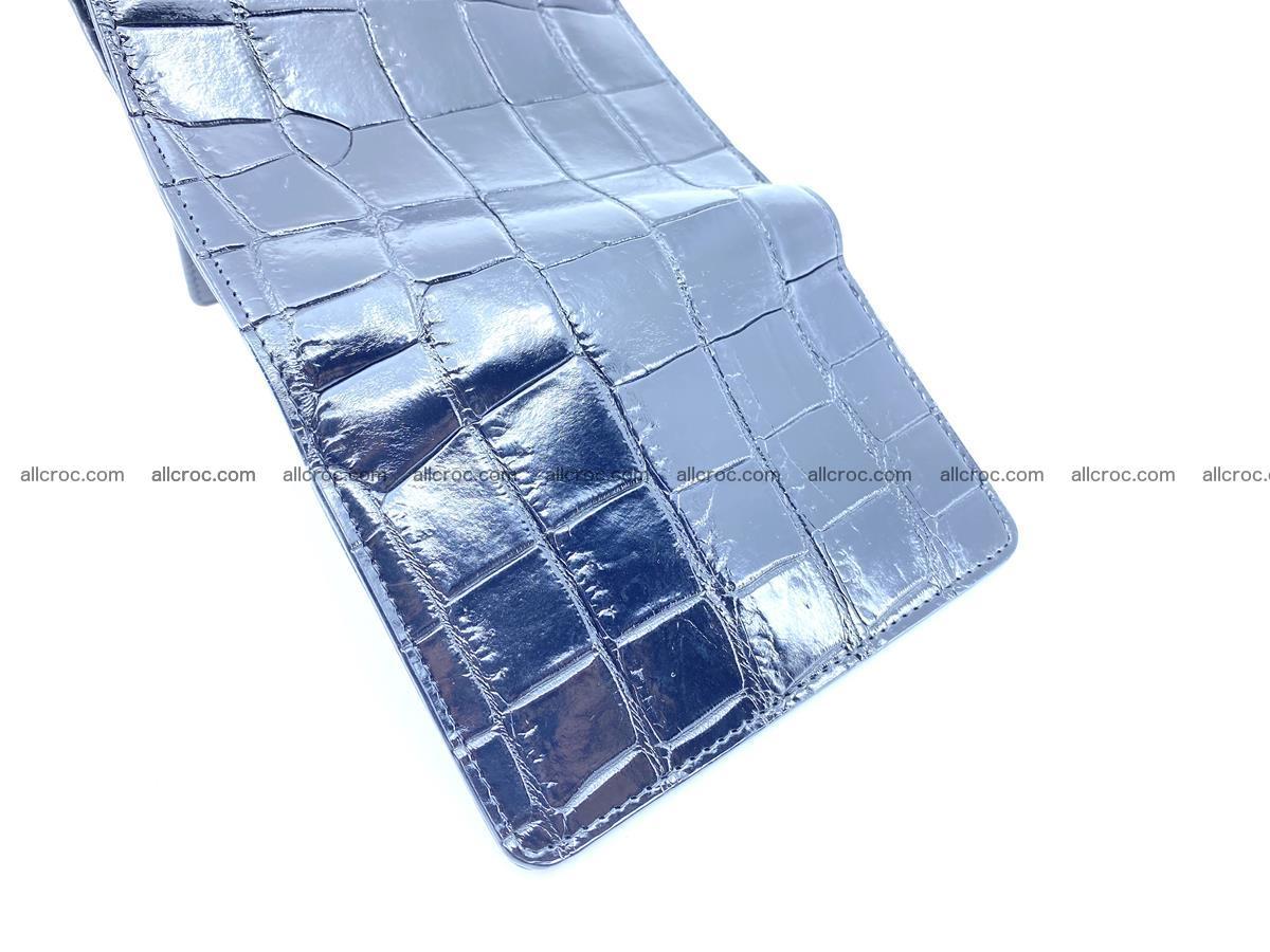 Siamese crocodile skin wallet for women belly part, trifold medium size 445 Foto 8