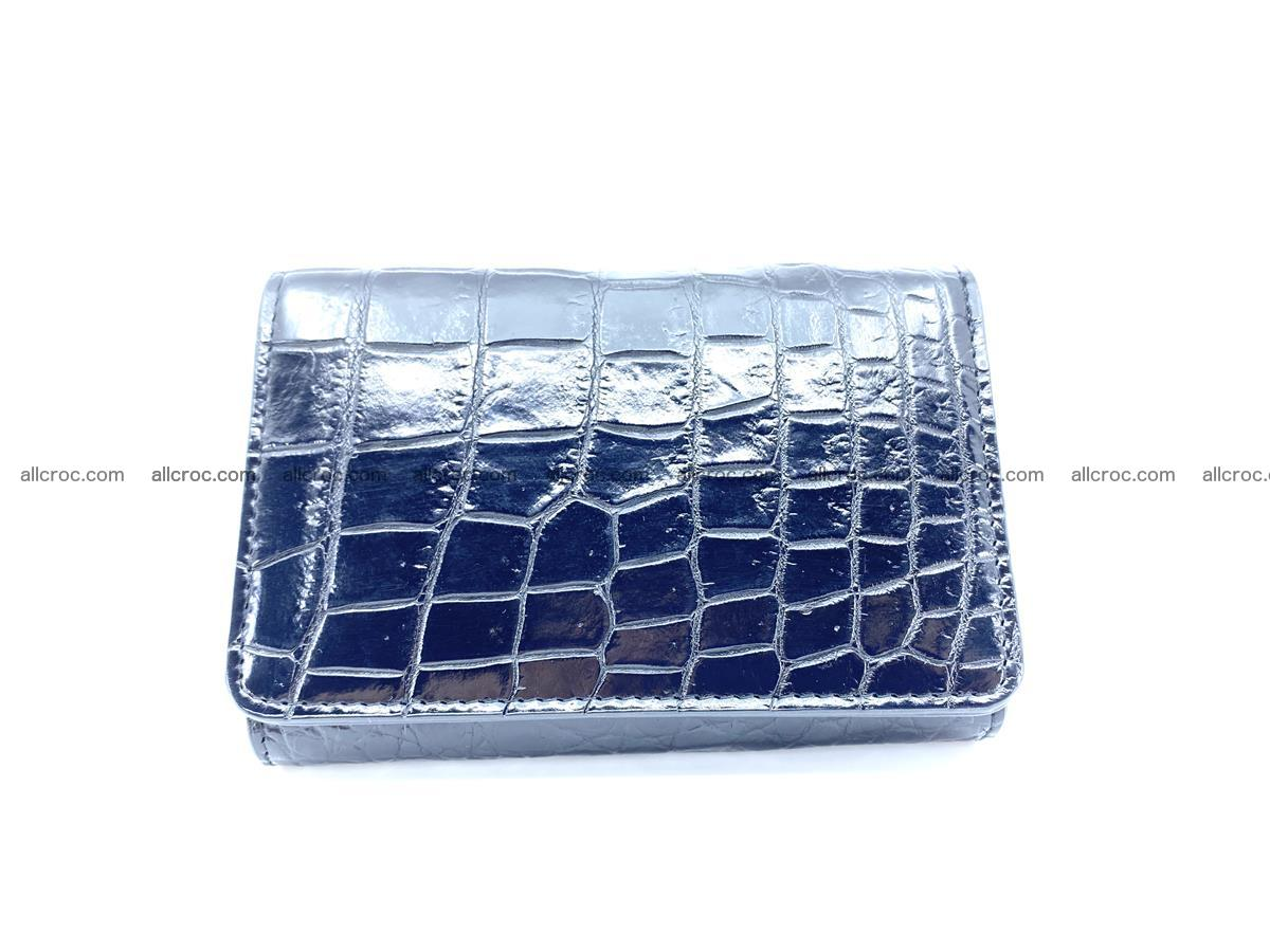 Siamese crocodile skin wallet for women belly part, trifold medium size 447 Foto 0