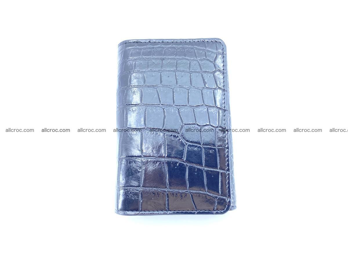Siamese crocodile skin wallet for women belly part, trifold medium size 447 Foto 2