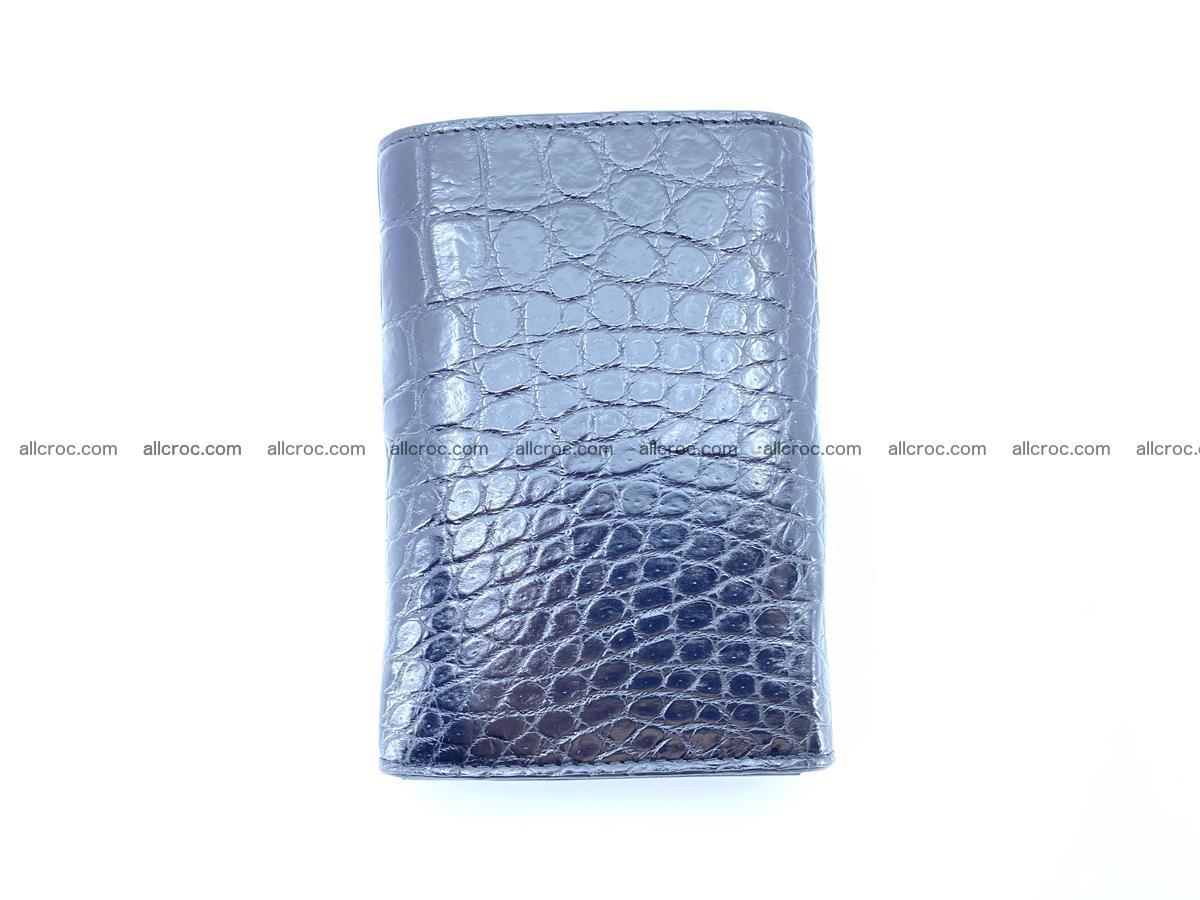 Siamese crocodile skin wallet for women belly part, trifold medium size 447 Foto 3