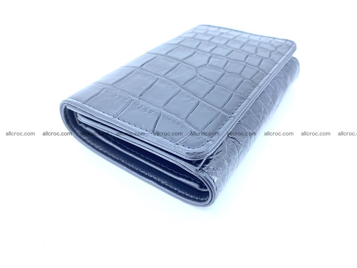 Siamese crocodile skin wallet for women belly part, trifold medium size 447 Foto 4