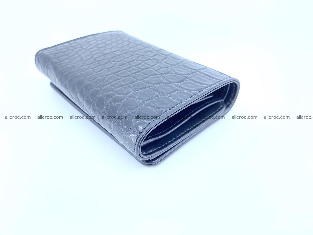 Siamese crocodile skin wallet for women belly part, trifold medium size 447 Foto 5