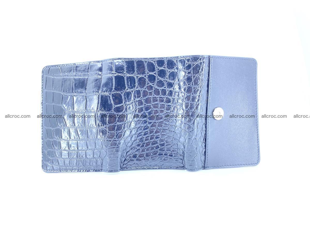 Siamese crocodile skin wallet for women belly part, trifold medium size 447 Foto 8
