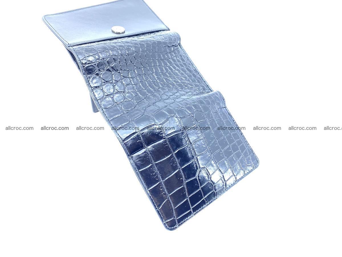 Siamese crocodile skin wallet for women belly part, trifold medium size 447 Foto 7