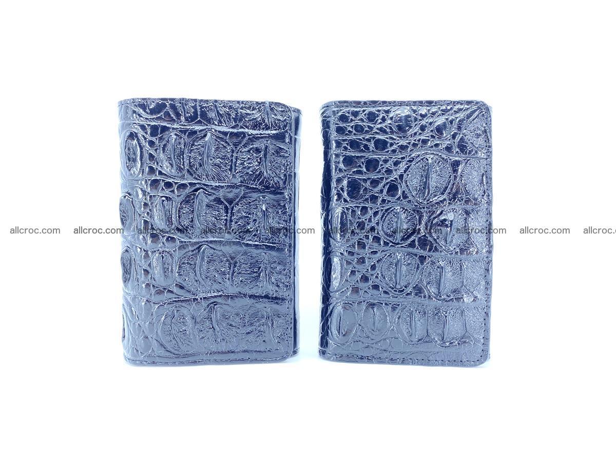 Siamese crocodile skin wallet for women trifold medium size 451 Foto 11