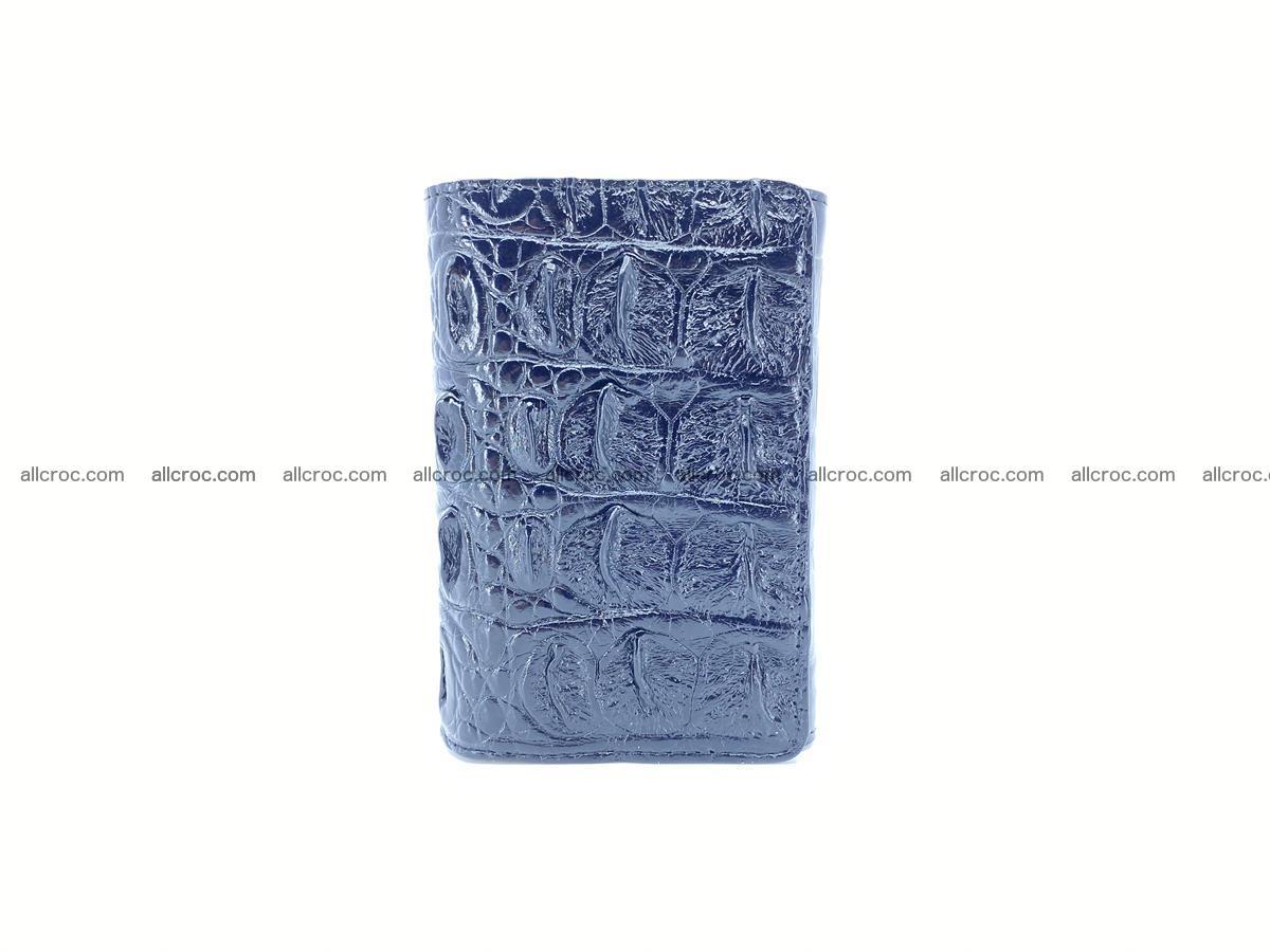 Siamese crocodile skin wallet for women trifold medium size 451 Foto 2