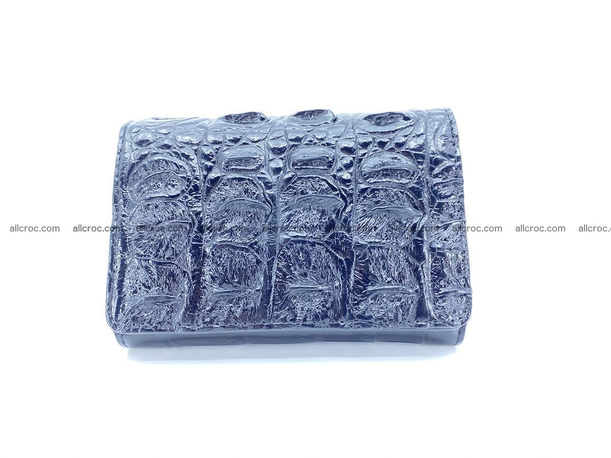 Siamese crocodile skin wallet for women trifold medium size 451 Foto 0