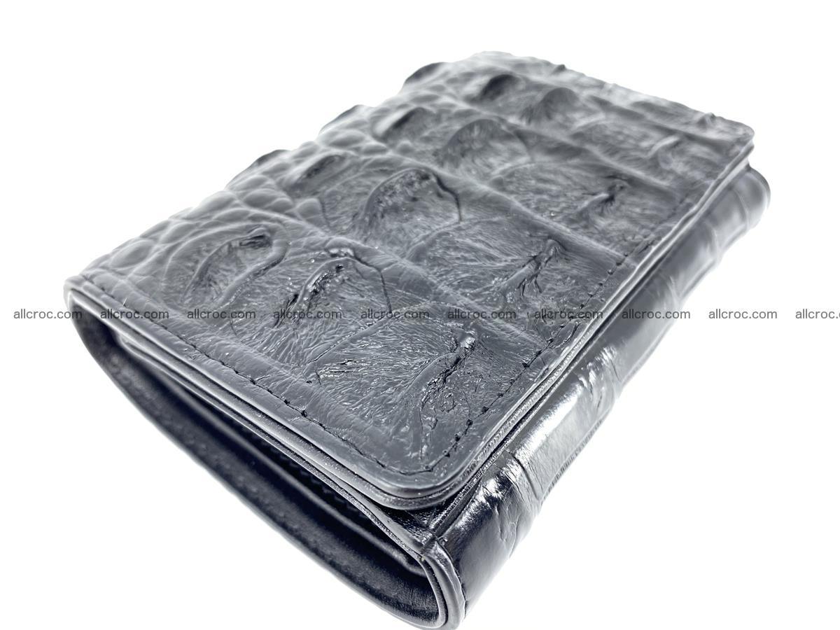 Siamese crocodile skin wallet for women trifold medium size 451 Foto 4