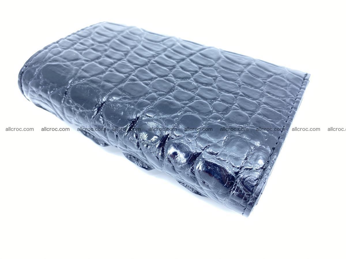 Siamese crocodile skin wallet for women trifold medium size 451 Foto 6