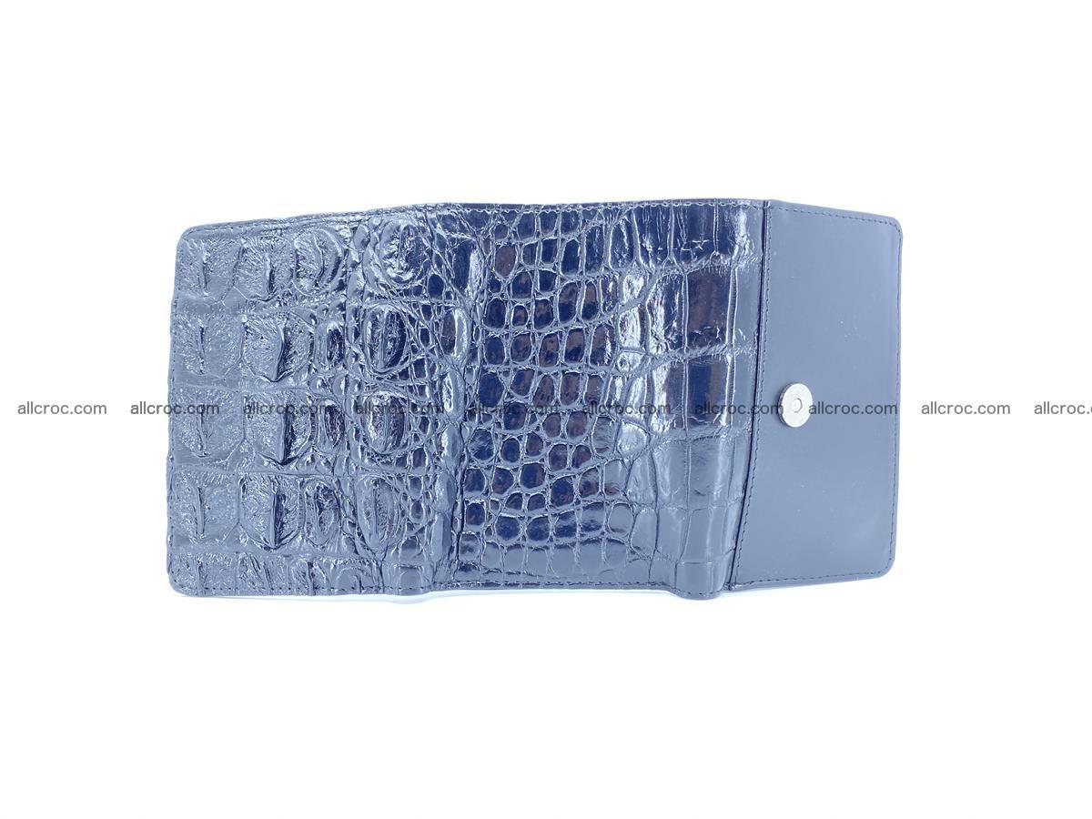 Siamese crocodile skin wallet for women trifold medium size 451 Foto 9