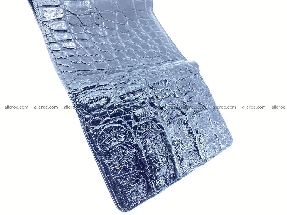 Siamese crocodile skin wallet for women trifold medium size 451 Foto 10