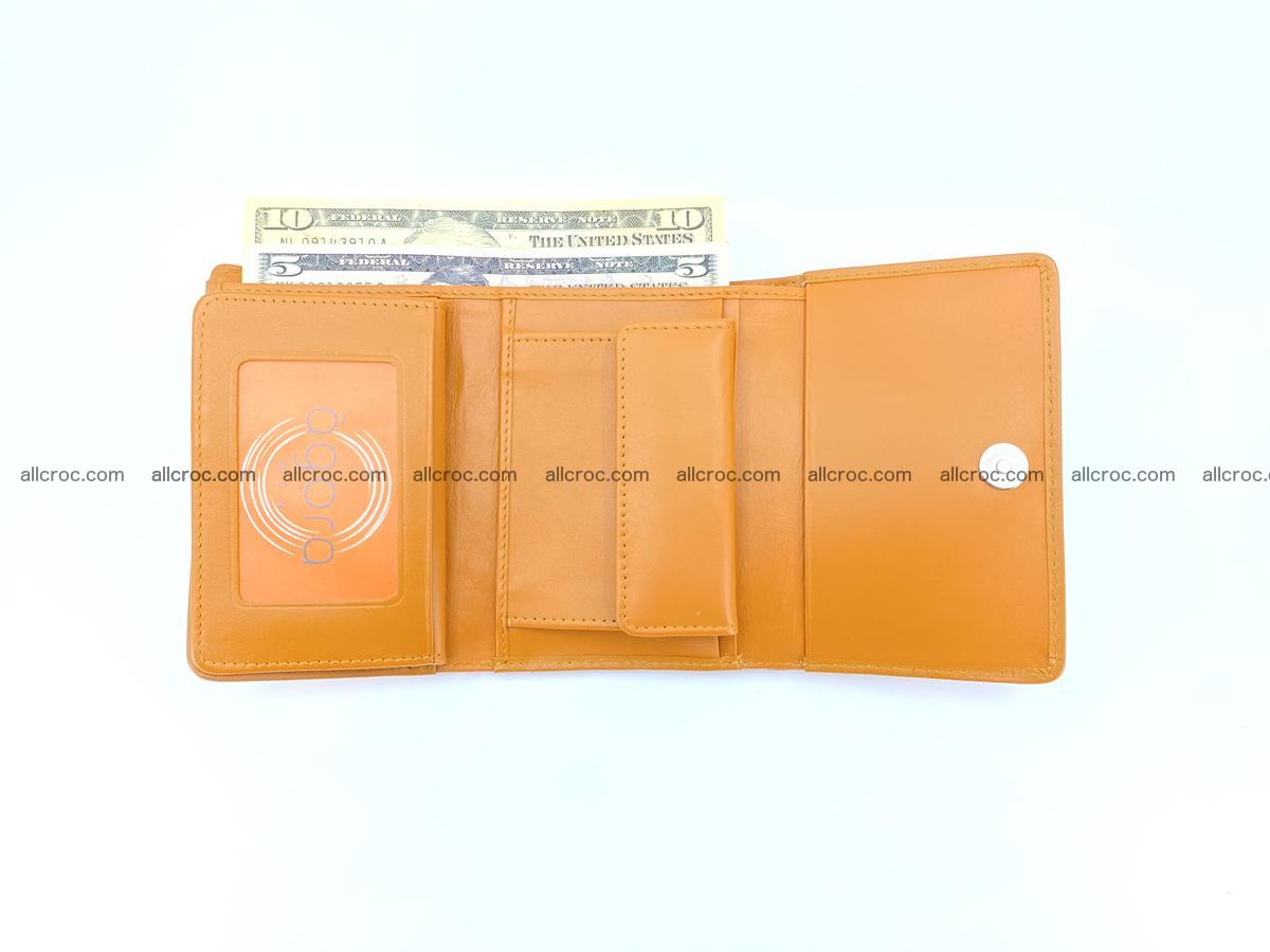 Siamese crocodile skin wallet for women, trifold medium size 432 Foto 7