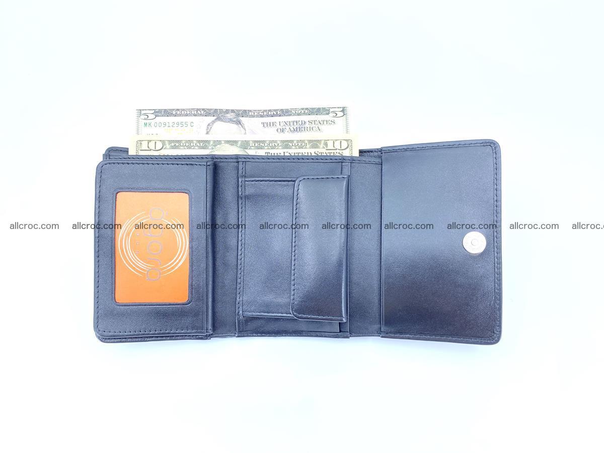 Siamese crocodile skin wallet for women, trifold medium size 429 Foto 6