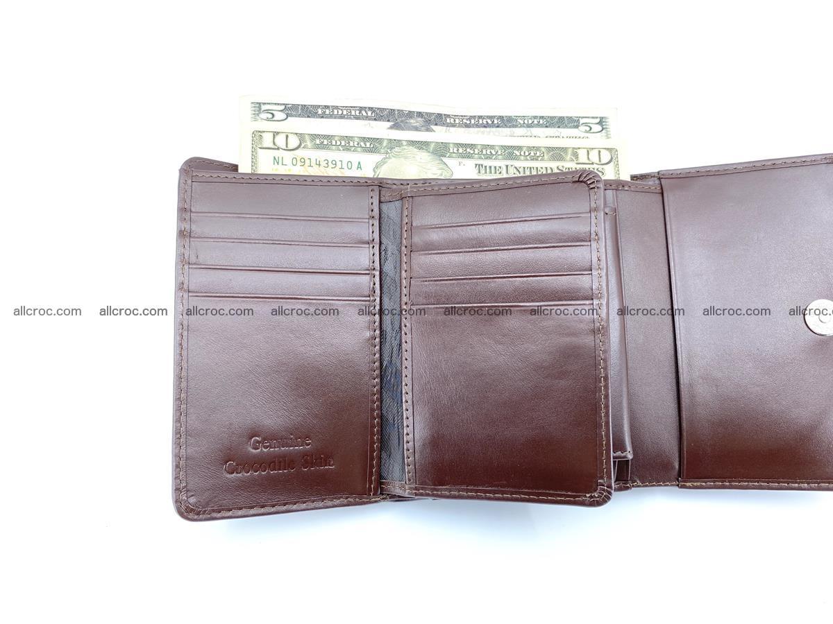 Siamese crocodile skin wallet for women, trifold medium size 433 Foto 8