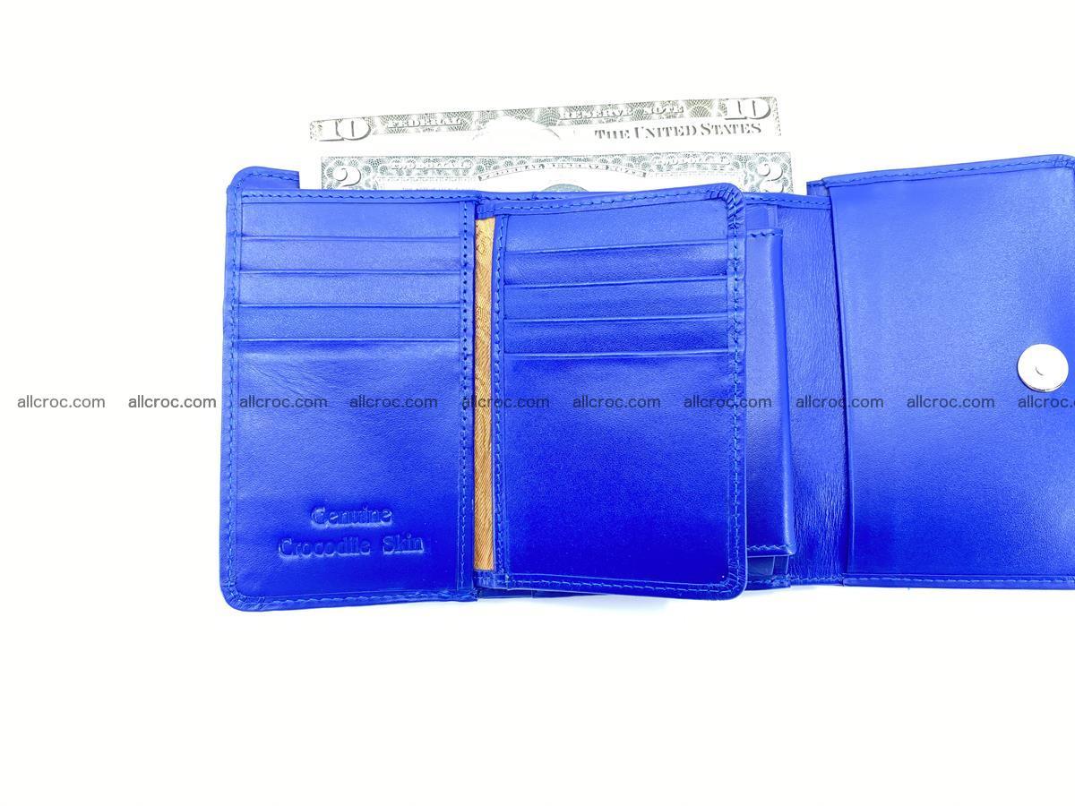 Siamese crocodile skin wallet for women, trifold medium size 430 Foto 8