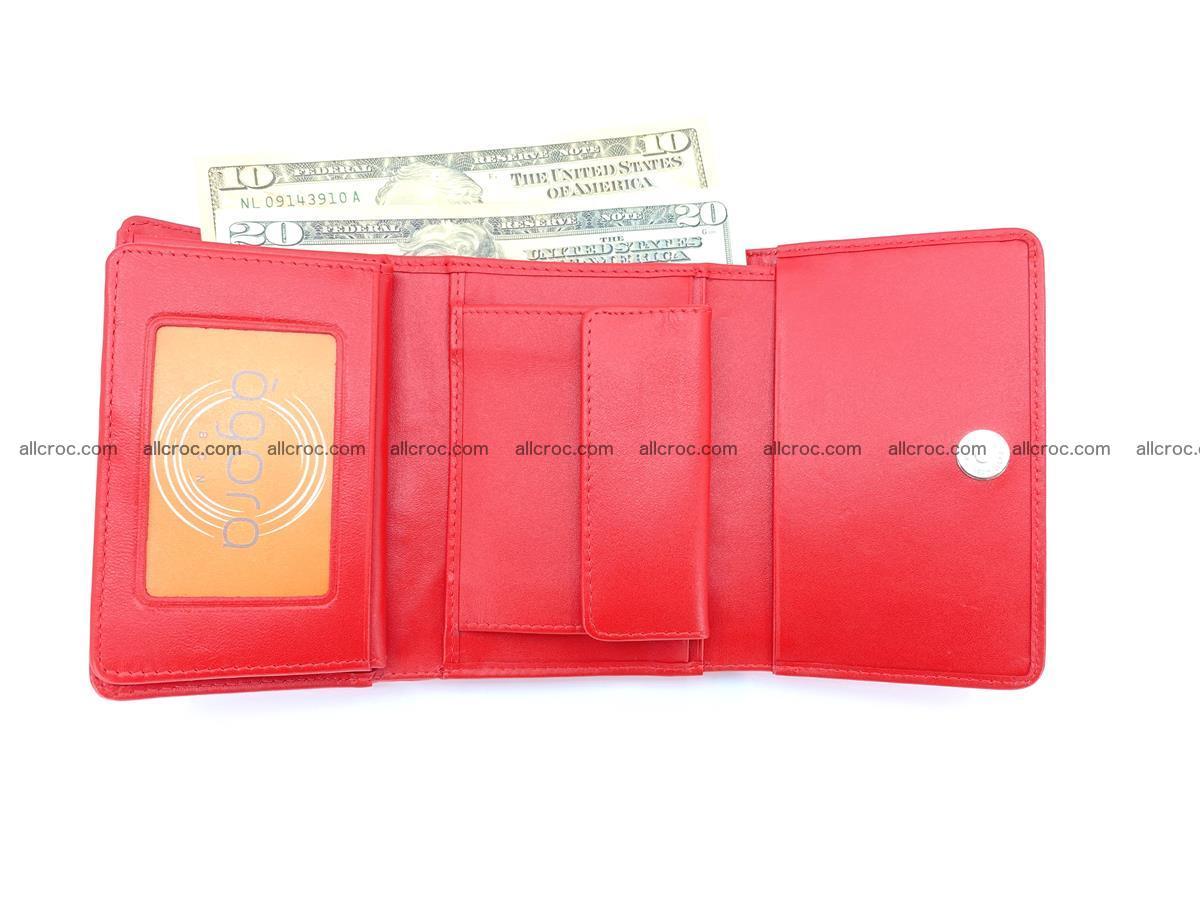 Siamese crocodile skin wallet for women, trifold medium size 435 Foto 7