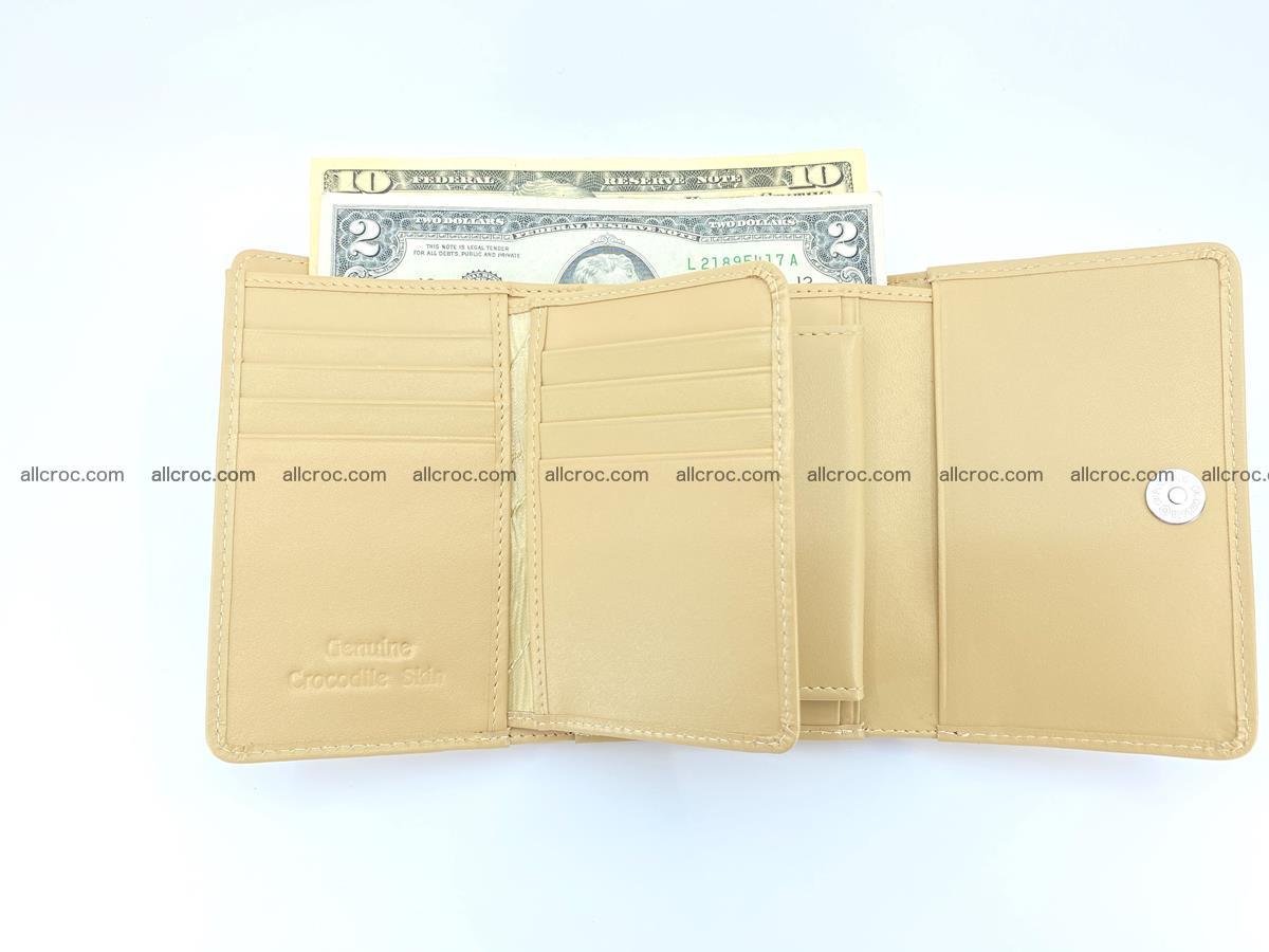 Siamese crocodile skin wallet for women, trifold medium size 427 Foto 6