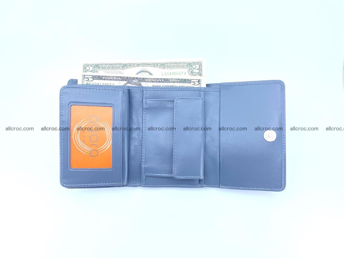 Siamese crocodile skin wallet for women, trifold medium size 431 Foto 8